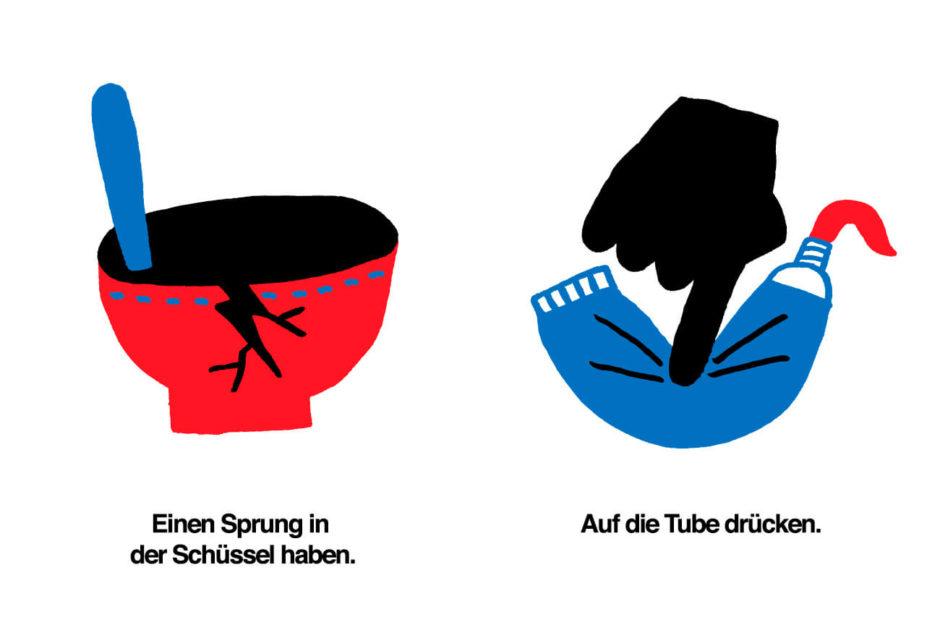 Illustration von Marc Lehmann zum Thema Redewendungen
