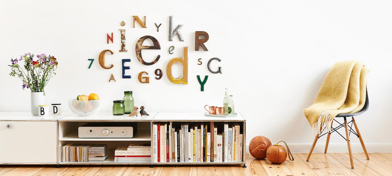 Buchstaben als Geschenk und Dekoration