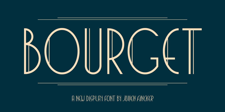 Displayfont Bourget – auf den Spuren der 20er Jahre