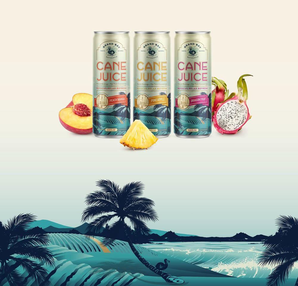 Packaging Design, Farm Design, Cane Juice, Grand Bay