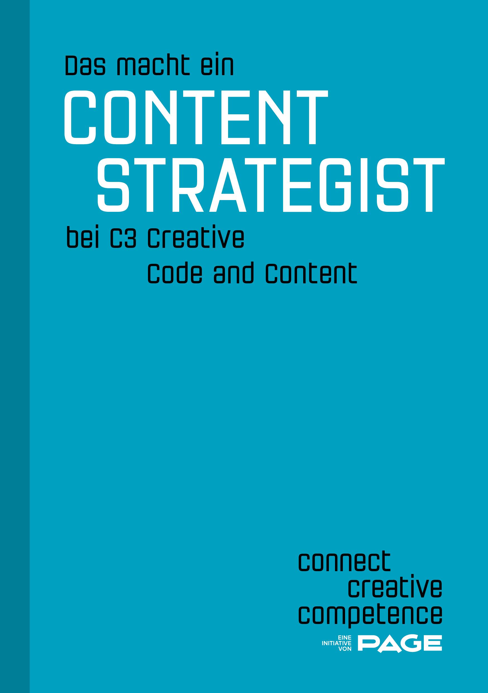 Produkt: eDossier »Das macht ein Content Strategist bei C3 Creative Code and Content«