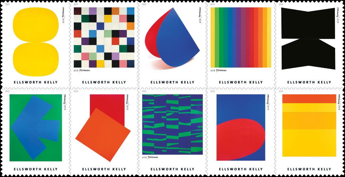 Briefmarken Ellsworth Kelly