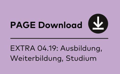 PAGE EXTRA Booklet 04.2019: Ausbildung, Weiterbildung, Studium