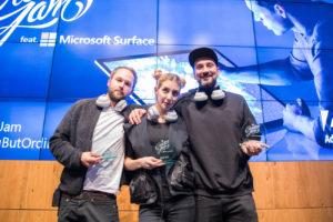 Creative Jam Gewinner Dom Quichotte, Sina Collins und Christopher Müller
