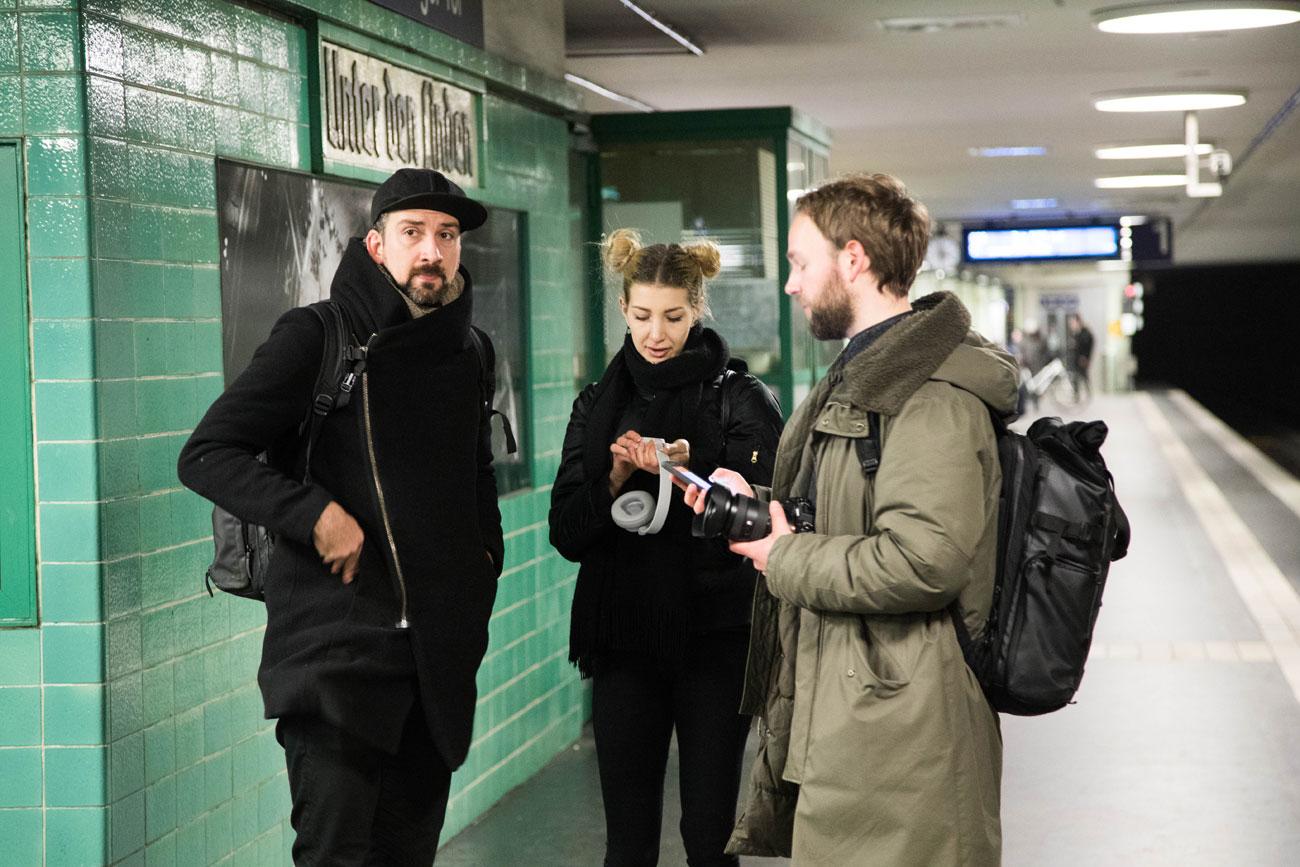 Creative Jam Gewinner beim Dreh der Kampagne.