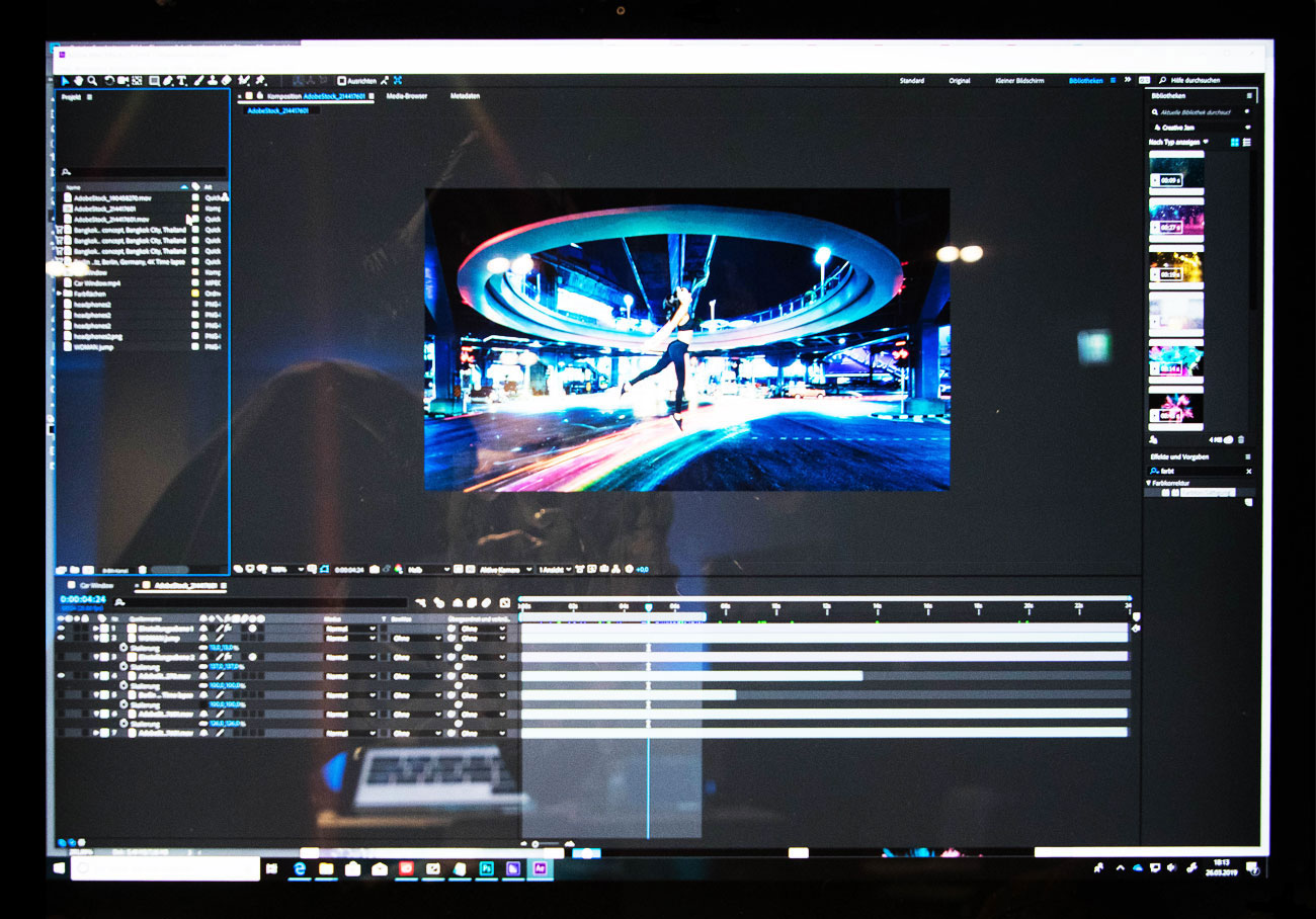 Cinemagraph des Video/Sound-Teams auf dem Surface Studio 2