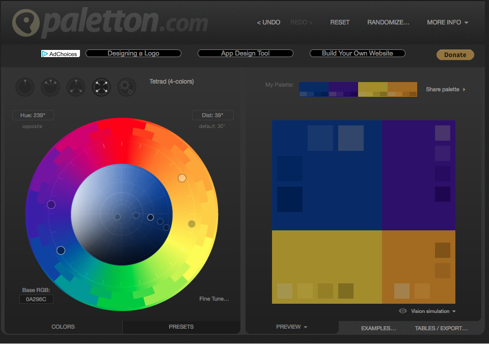 Palleton, Interface Design, UX Design, UI Design