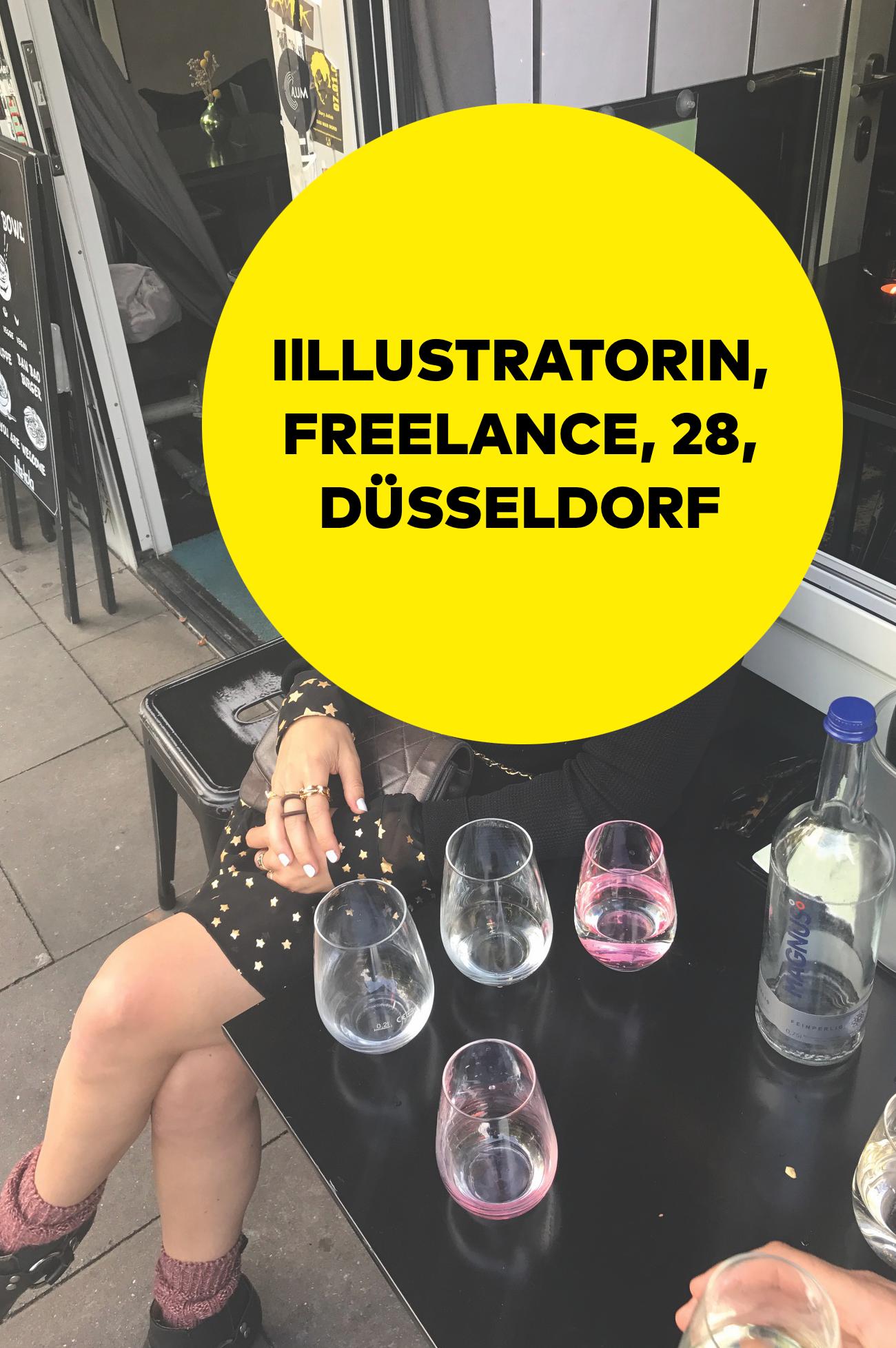 Gehaltsserie über Kreativbranche: Illustratorin und Studentin aus Düsseldorf