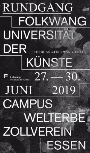 Rundgang Folkwang Sommersemester 2019