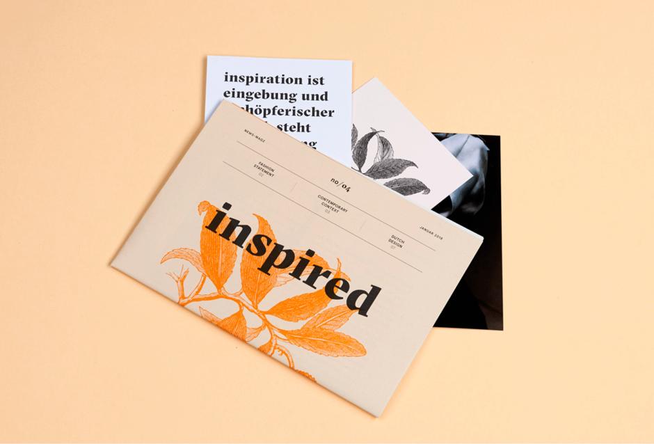 Gestaltung diverser Printprodukte für »Inspired. re:shaping design for our future«
