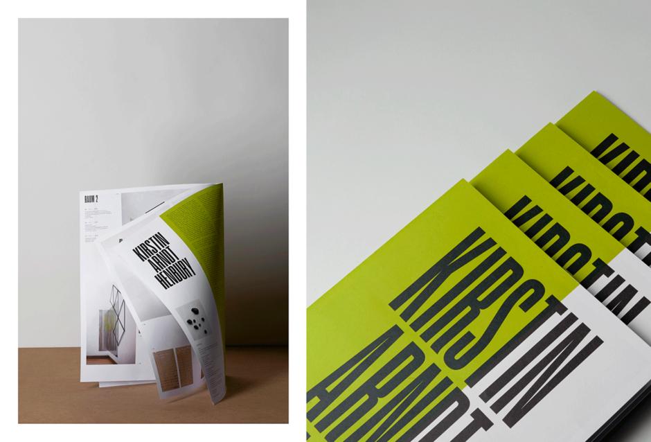 Ausstellungsbroschüre für die Künstlerin Kirstin Arndt