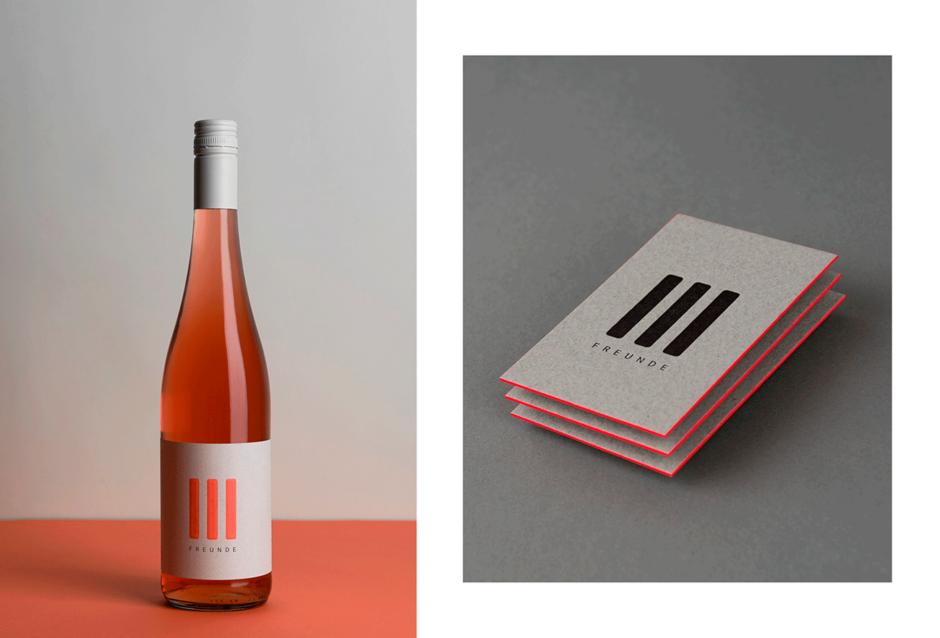 Corporate Design für »III Freunde Wein«
