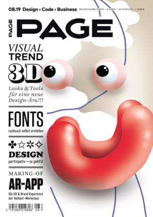 PAGE 08.2019 Cover, 3d Art, 3D Animation, 3D Artist, 3d Modeling, Grafikdesign