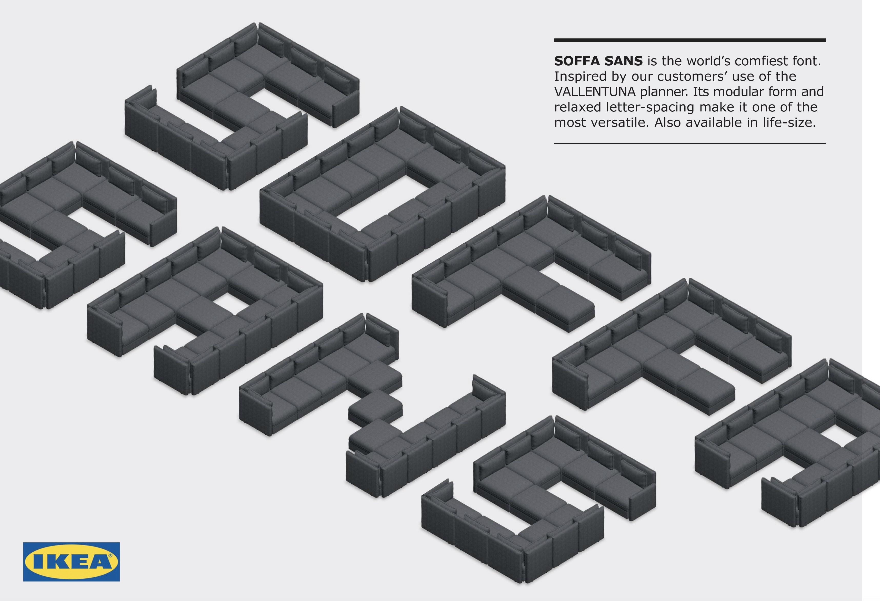 Ikea Sofa Freefont