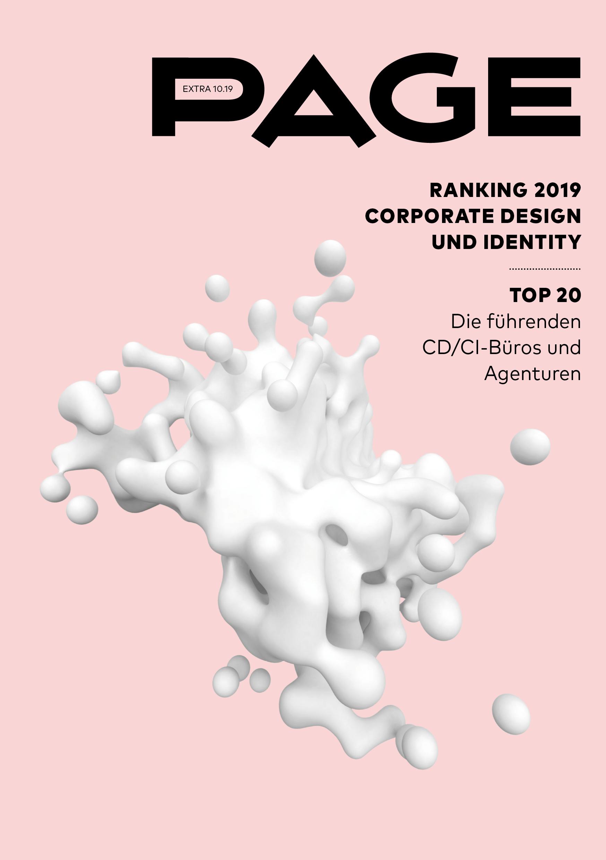 Cover PAGE EXTRA CD/CI Ranking 2019, Corporate-Design-Agentur, Corporate Identity, Corporate Publishing, Corporate Design, PAGE Ranking