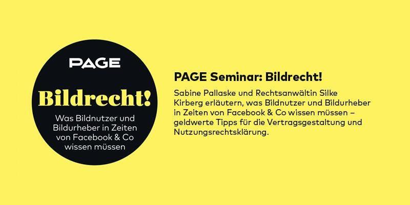 Bildrecht-Seminar von PAGE