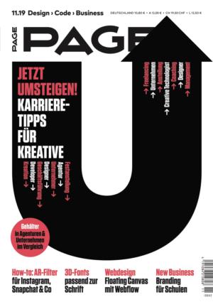 PAGE 11.2019, Design, Gehalt, Kreativagentur, Künstlersozialkasse