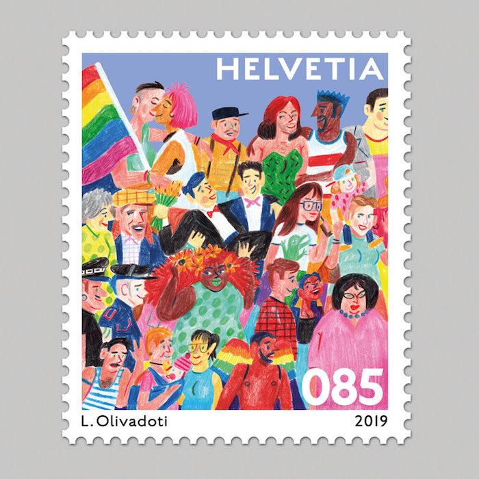 Sowas gab's noch nie: eine Briefmarke für sexuelle Diversität