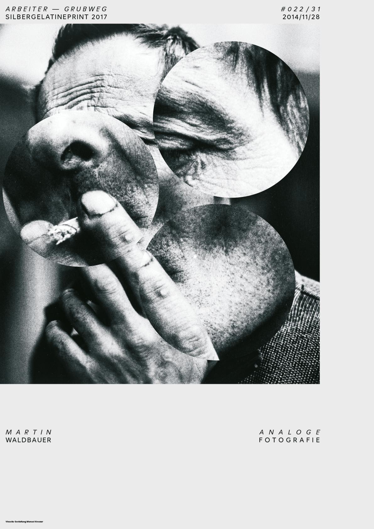 Plakatserie »Arbeiter«: Typografie trifft Fotografie