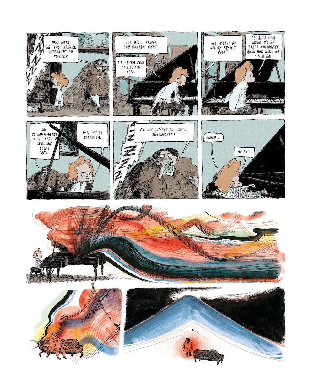 Beethoven Biografie seine Kindheit als Comic