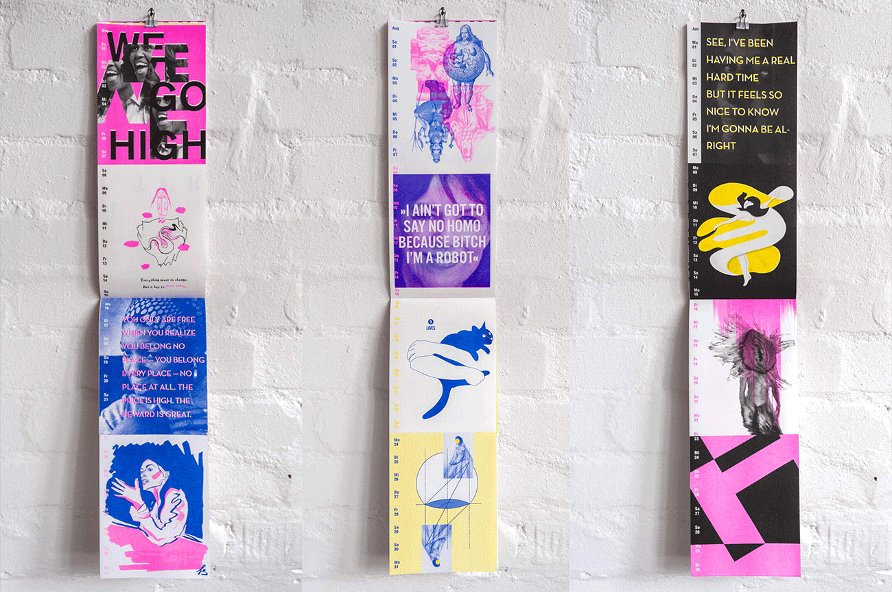 Mit 48 Frauen und leuchtender Typografie durch 2020