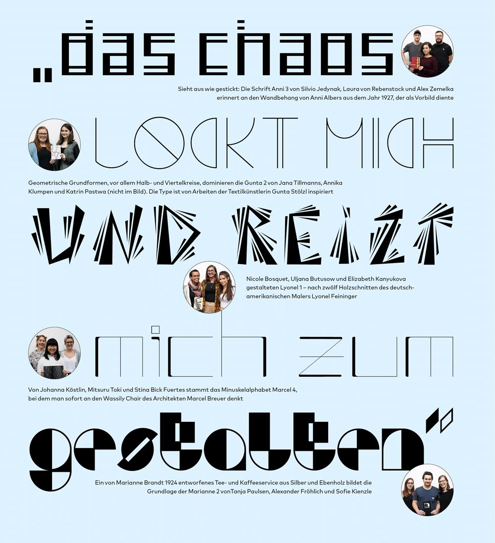 Typo-Projekt an der Uni: Bauhaus Birthday Letters