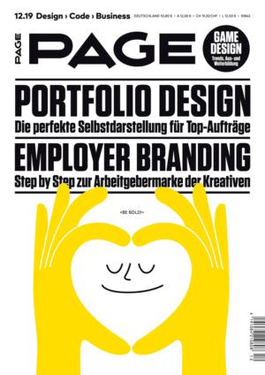 PAGE 12.2019 ist da, Portfolio Design, Kreativbranche, Game Design, UX Design, Weiterbildung