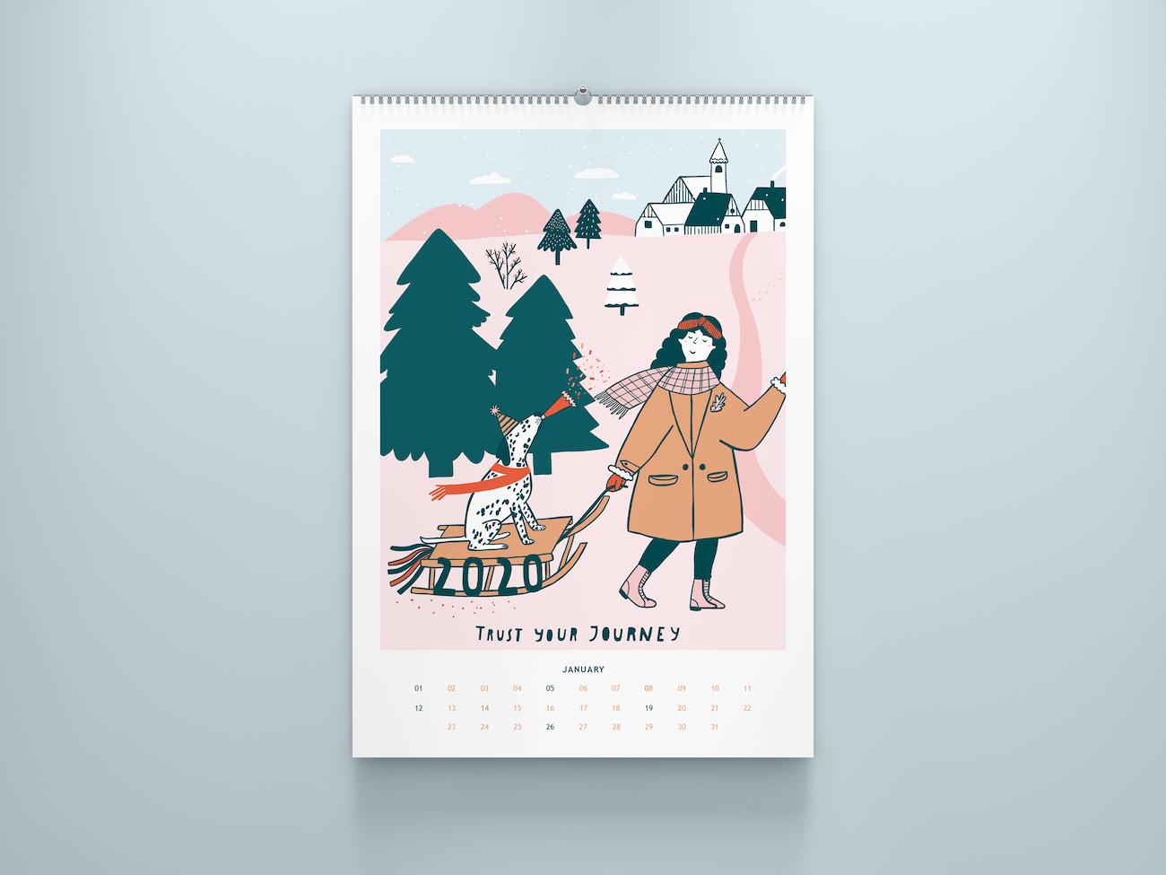"""Kalenderblatt """"Calendar Girls"""" von Notizblock"""