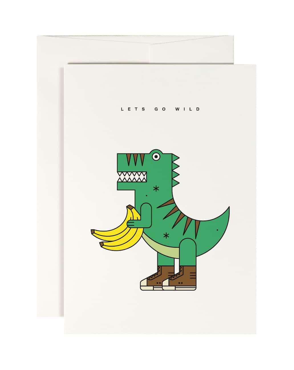 Kleine Geschenke: Dino-Karte von redfries