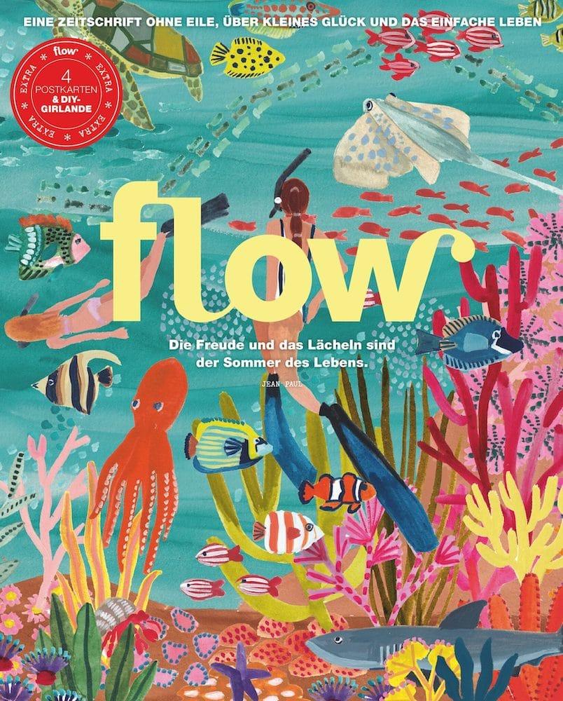 Cover-Illustration Flow Magazin Rhi James