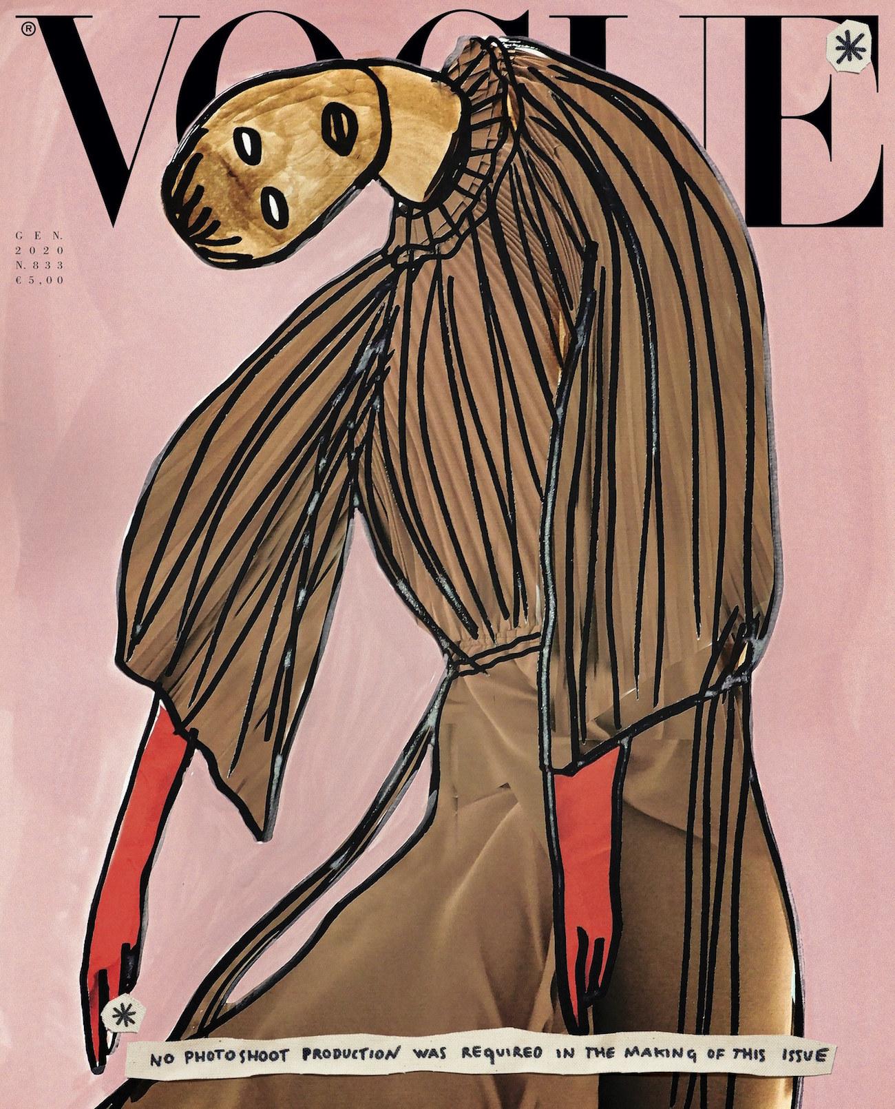 Vogue Italia geht radikalen Schritt: Illustrationen statt Fotografie
