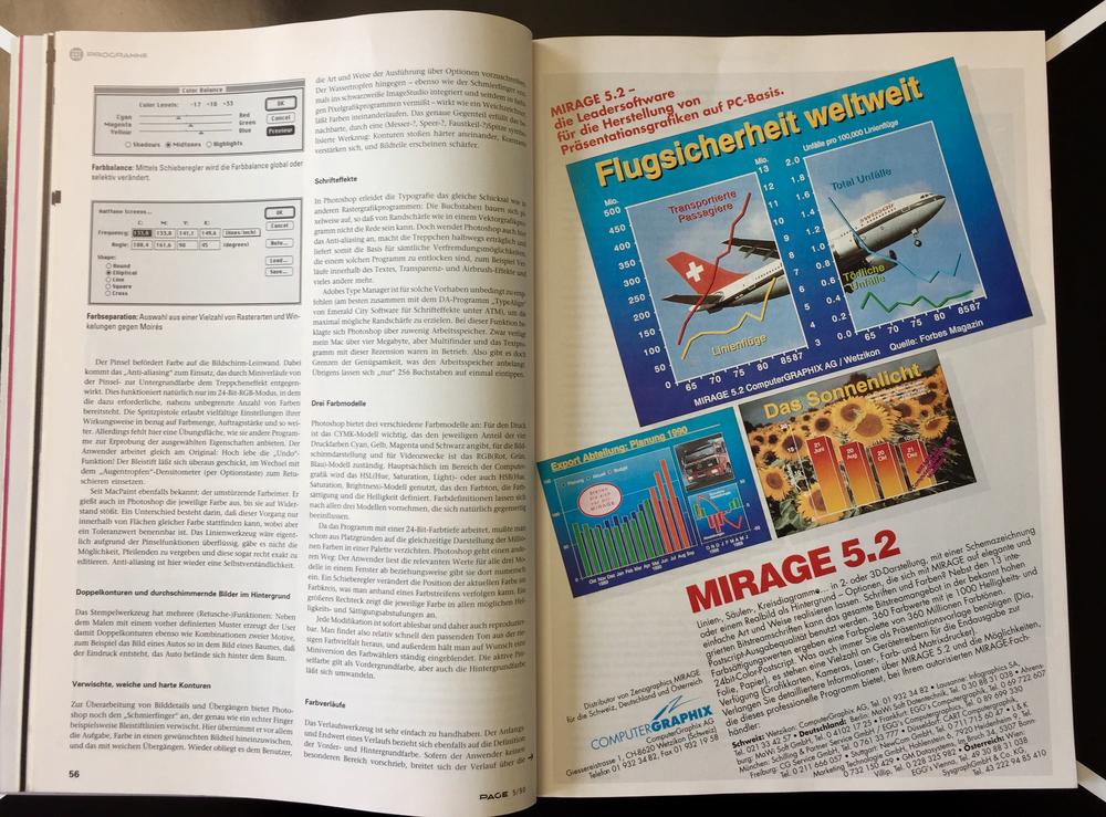 30 Jahre Photoshop PAGE Mai 1990 Aufmacher