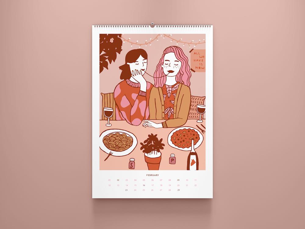 Februar-Kalenderblatt von Notiezblock