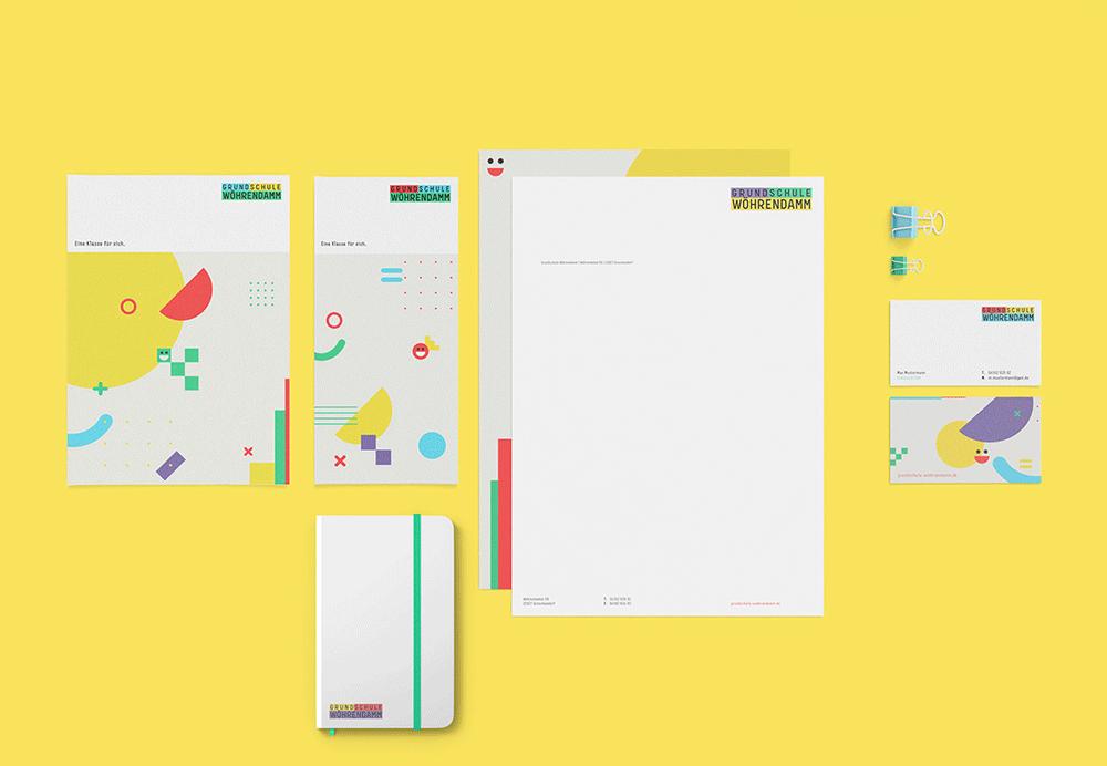 Grafikdesign BEN&JAN Corporate Design für eine Schule