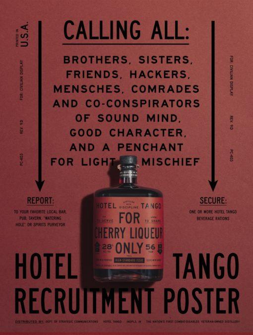 Hotel Tango Poster Cherry Liqueur