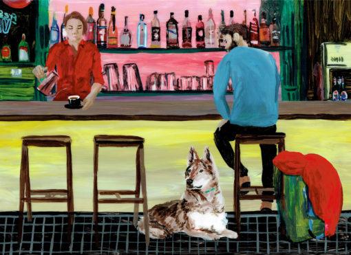 Editorial Illustration von Asuka Grün für das DB-MOBIL-Magazin