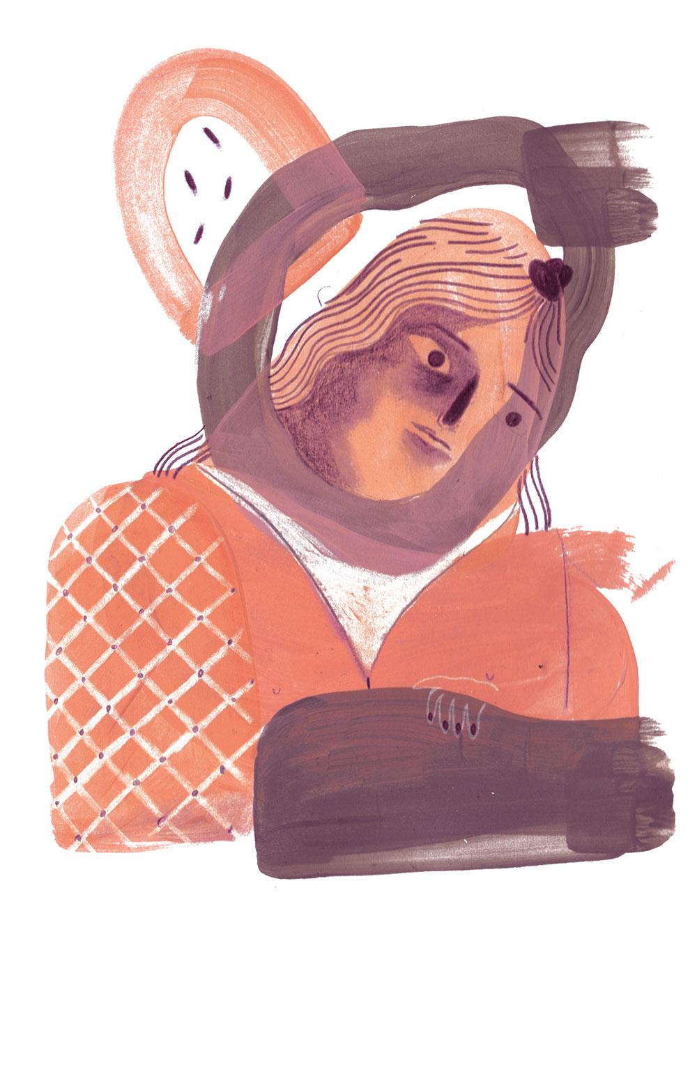 Illustration »Die Salzstreuerin« von Mone Seidel