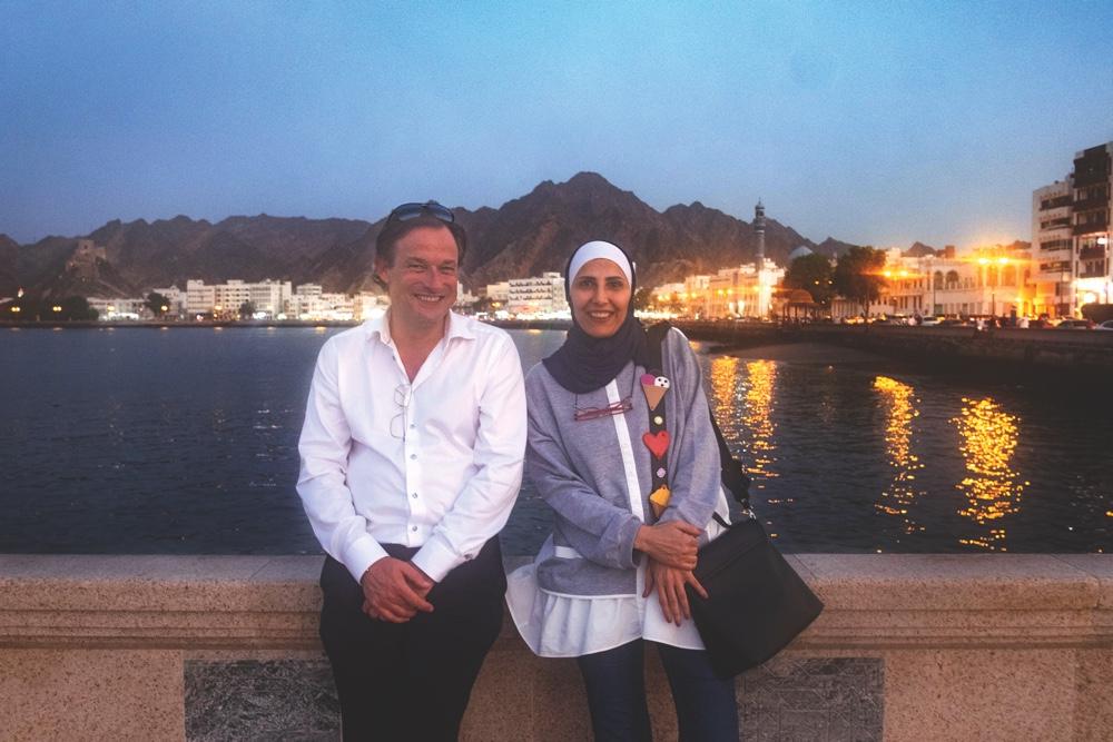 Tobias Phleps und Majdoleen Till von Superunion in Maskat, der Hauptstadt des Oman