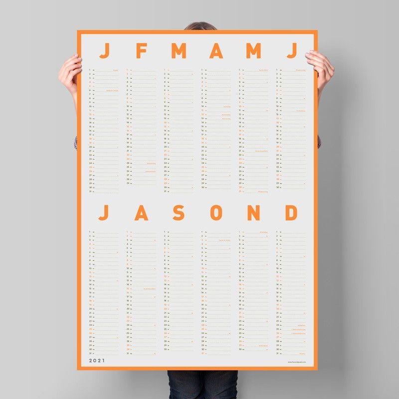 Wandkalender Neon 2021 von Fox & Poet