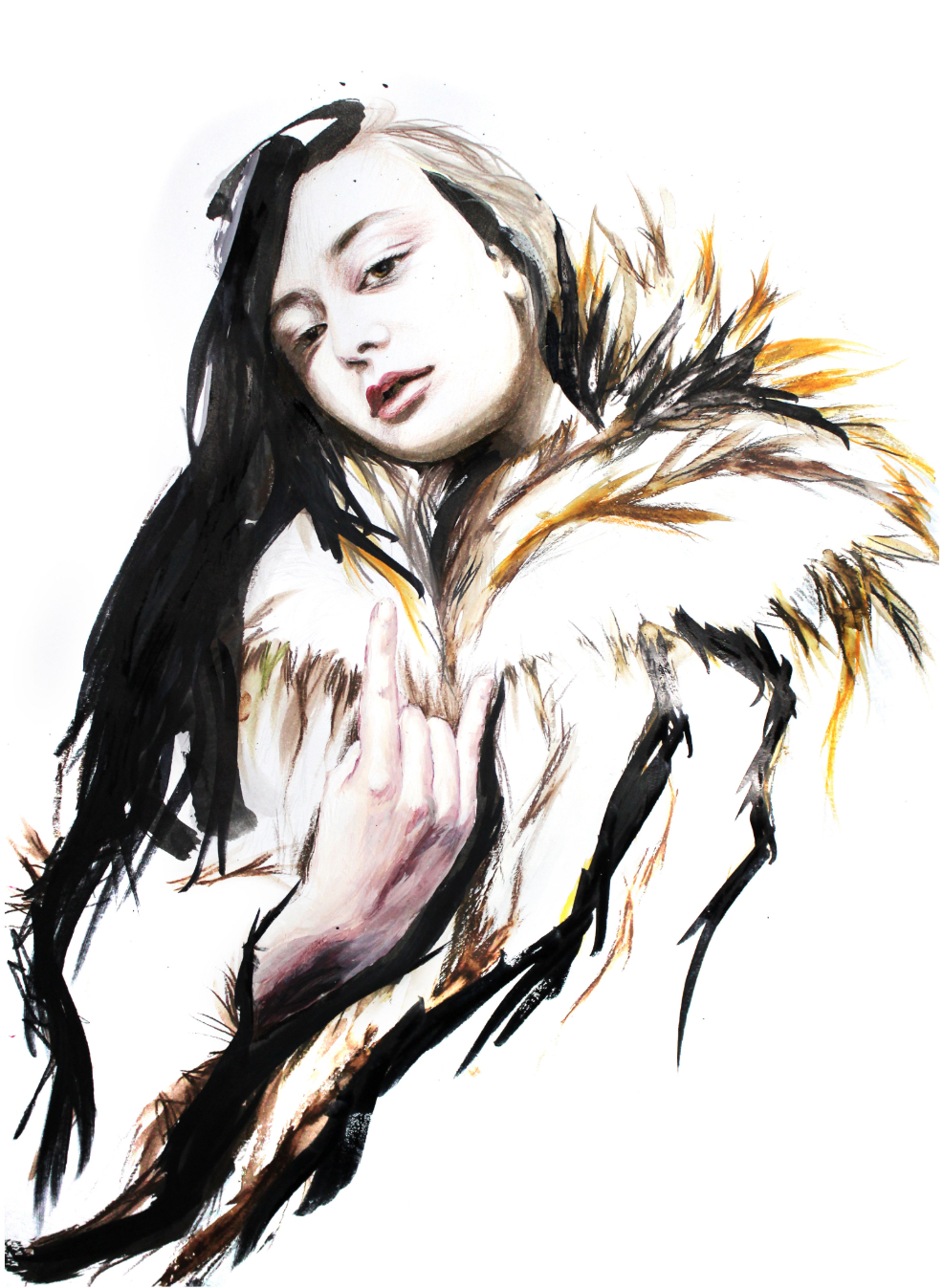 Portrait-Illustration Anusch Thielbeer