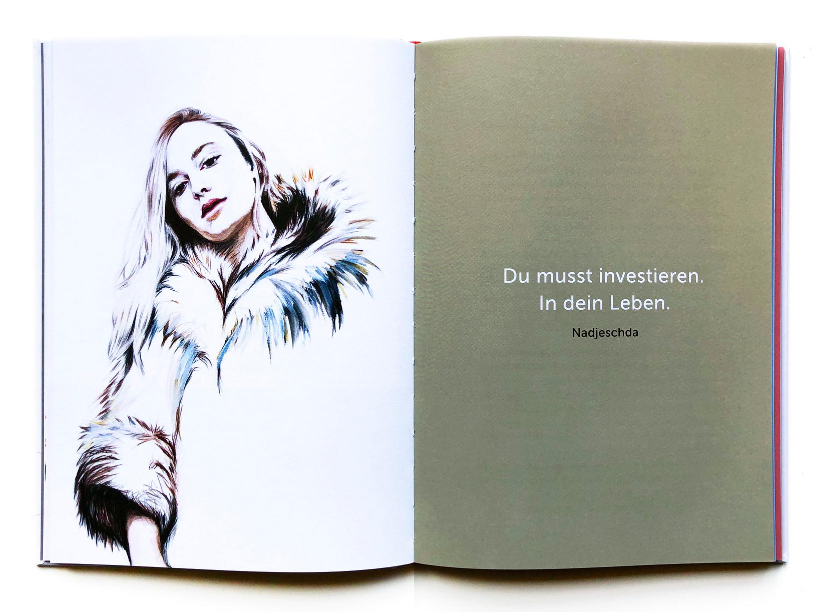 Portrait-Illustration Wasserfarben Buch Anusch Thielbeer