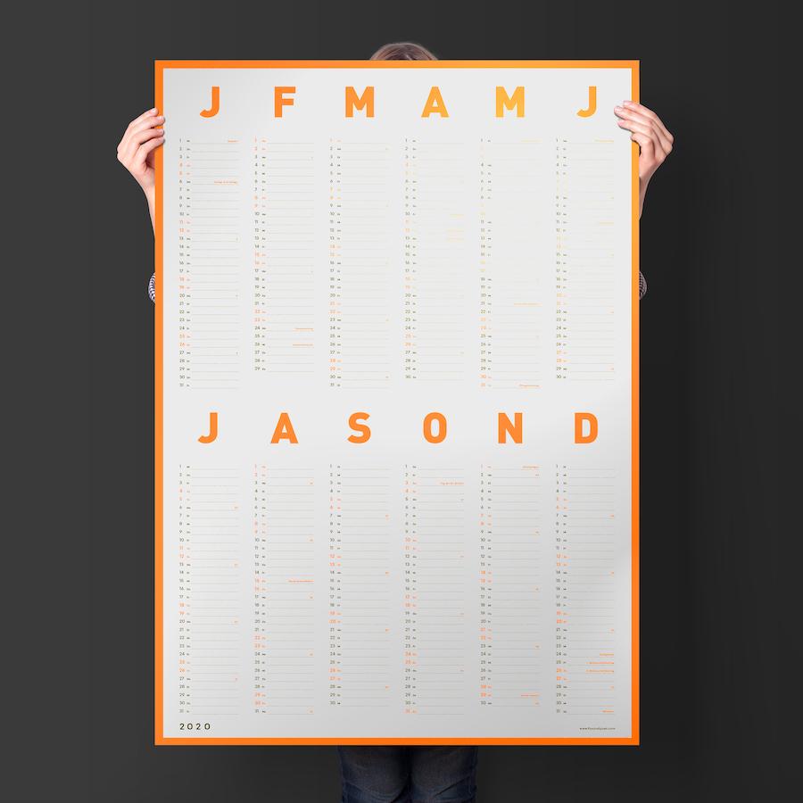 minimalistisch, typografisch: Wandkalender von Fox & Poet
