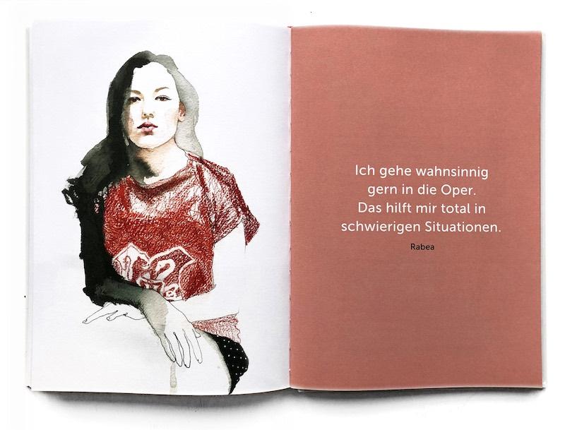 Portrait-Illustration Buch Anusch Thielbeer