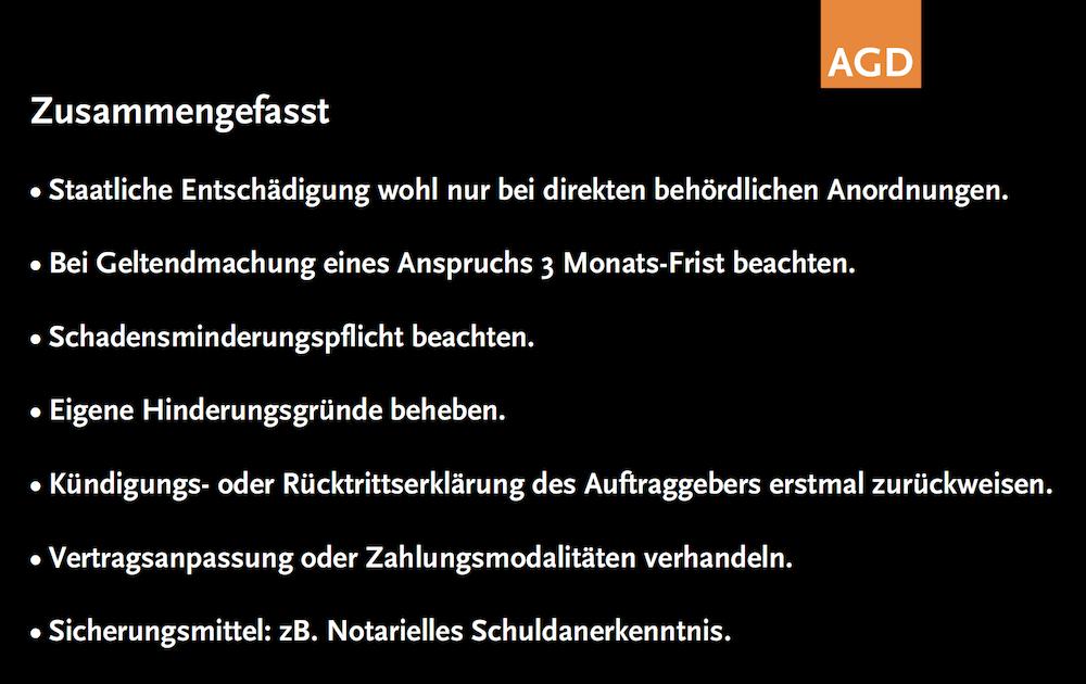 Slide aus der Präsentation von AGD-Justiziar Alexander Koch