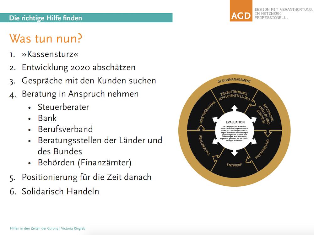 Slide aus der Präsentation von AGD-Chefin Victoria Ringleb