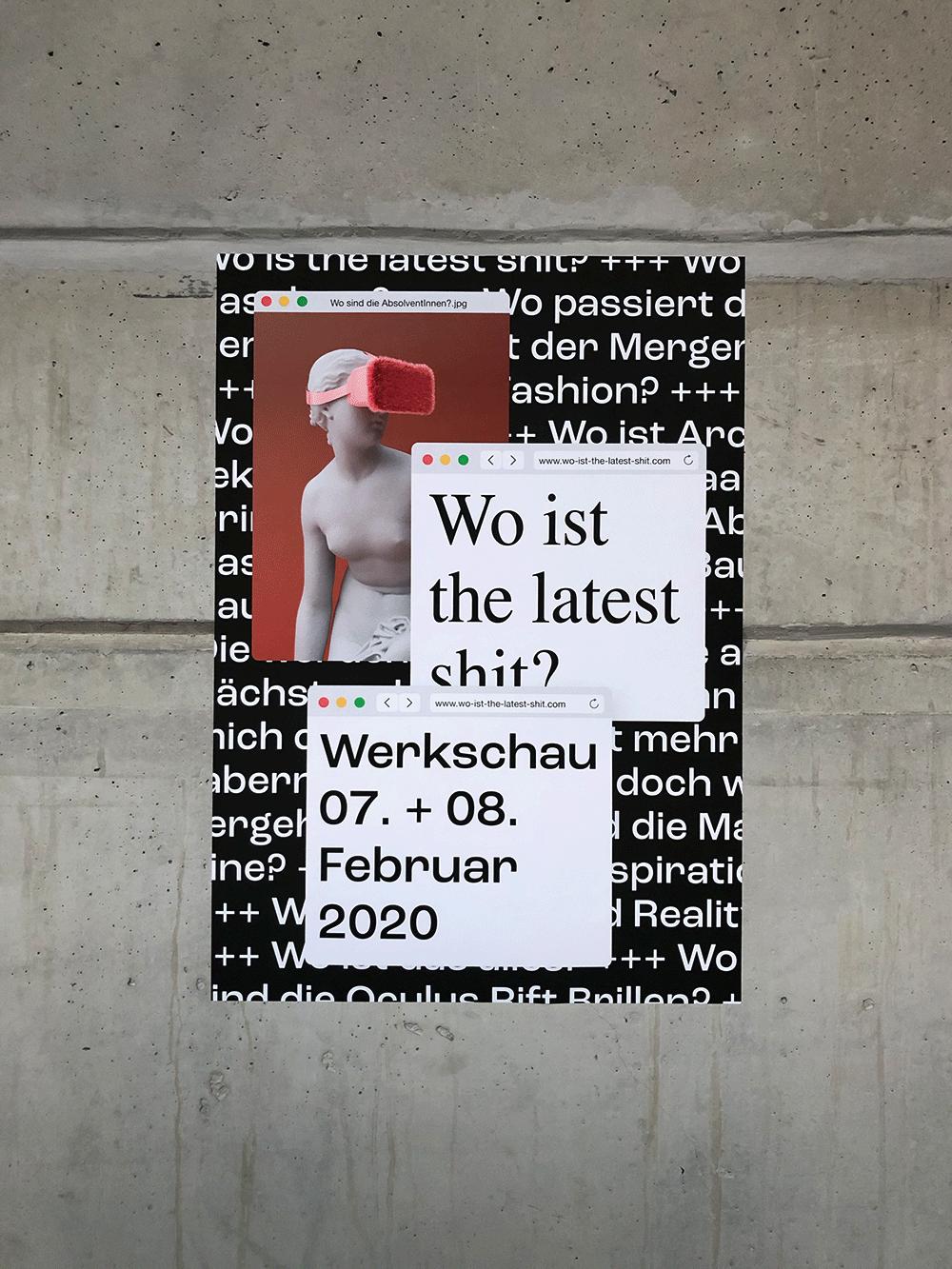 Kampagne für Ausstellung der Werkschau an der HS Augsburg