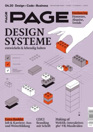Cover PAGE 04.2020, Branding, Projektmanagement, Corporate Identity, Design, UI Design, Digital Design