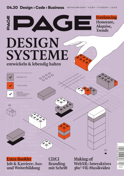 Cover PAGE 04.2020, Branding, Projektmanagement, Corporate Identity, Design, UI Design, Digital Design