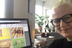 Katrin Oeding im Home Office