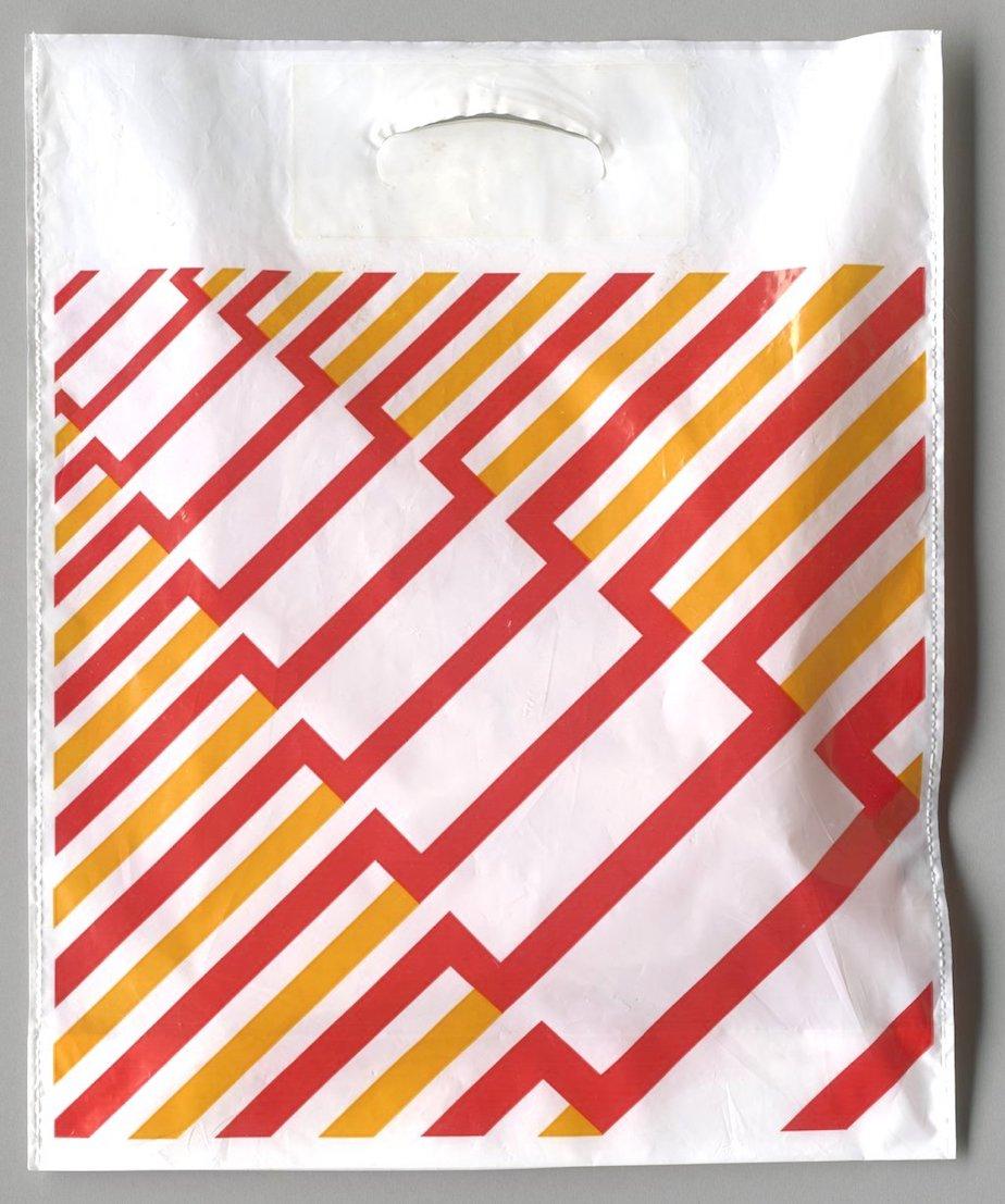 Plastiktüte Design Anton Stankowski, um 1970